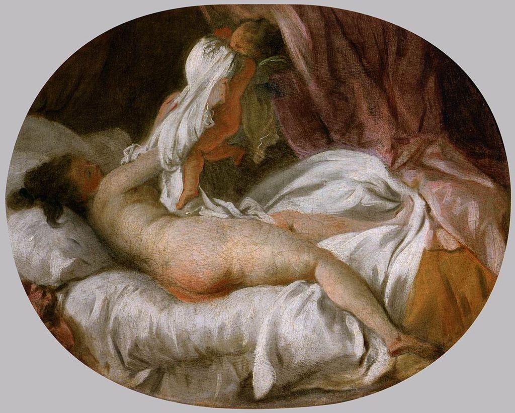 La Chemise enlevée / Zonder hemd (1770) - Jean-Honoré Fragonard