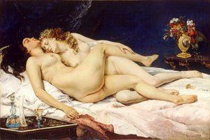 Le sommeil / De slaap (1847) - Gustave Courbet