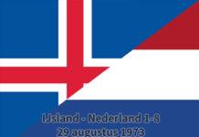 IJsland - Nederland 1-8, 29 augustus 1973