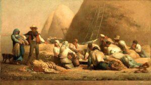 Batteuses repos (Ruth et Boaz) Rustende oogsters (Ruth en Boaz) (1853) - Jean-François Millet