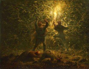 La chasse aux oiseaux de nuit / Nachtelijk jacht op vogels (1874) - Jean-François Millet