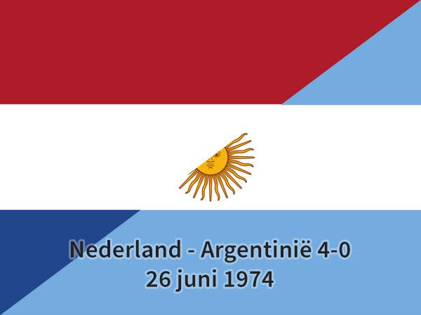 Nederland - Argentinië 4-0, 26 juni 1974
