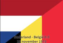 Nederland - België 0-0, 18 november 1973