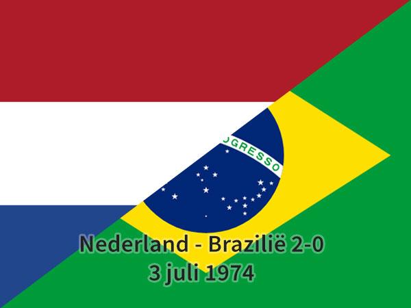 Nederland - Brazilië 2-0, 3 juli 1974