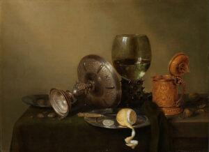 Stilleven met vergulde bierkan, Willem Claesz. Heda, 1634