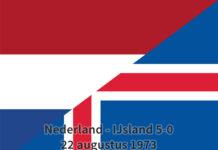 Nederland - IJsland 5-0, 22 augustus 1973