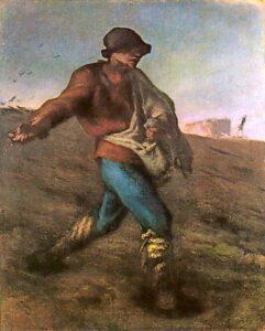 Le semeur / De zaaier (1850) - Jean-François Millet