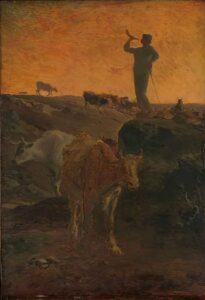 Appel à la maison des vaches / De koeien worden naar huis geroepen - (c.1872) Jean-François Millet