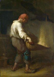 Un Vanneur / Korenwanner (c.1847-48) - Jean-François Millet