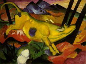 Die gelbe Kuh / De gele koe - Franz Marc (1911)