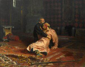 Ivan the Terrible and his Son Ivan, 16 November 1581 / Ivan de Verschrikkelijke en zijn zoon Ivan, 16 november 1581 (1883-85) - Ilya Repin