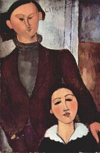 Jacques Lipchitz e sua moglie Bertha / Jacques en Berthe Lipchitz (1916) - Modigliani