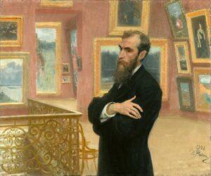 Portrait of Pavel Tretyakov / Portret van Pavel Tretyakov (1883) - Ilya Repin