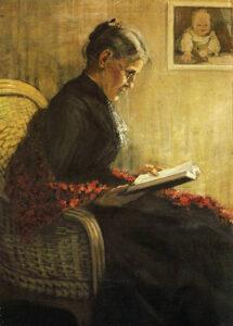 Porträt der Mutter des Künstlers - Portret van de moeder van de kunstenaar (1902) - Franz Marc