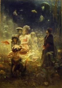 Sadko in the Underwater Kingdom / Sadko in het onderwaterrijk (1876) - Ilya Repin