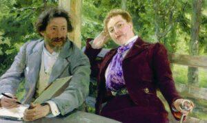 10. Self Portrait with N.B. Nordman / Zelfprotret met N.B. Nordman (1903) - Ilya Repin