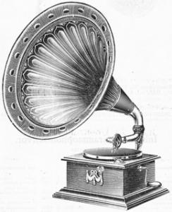 Grammofoon (Pathéphone) uit 1914