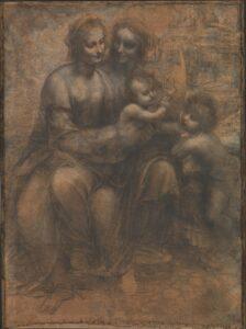 Maria met kind en Sint-Anna / Sant'Anna, la Vergine e il Bambino con l'agnellino (1501-1519) - Leonardo Da Vinci