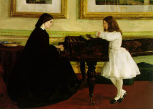 At the Piano (1858-1859) - James McNeill Whistler