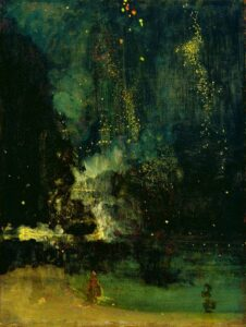 Nocturne in Black and Gold: The Falling Rocket (Ci. 1875) - James McNeill Whistler