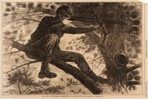 The Army of the Potomac - A Sharp Shooter on Picket Duty (1862) - Winslow Homer
