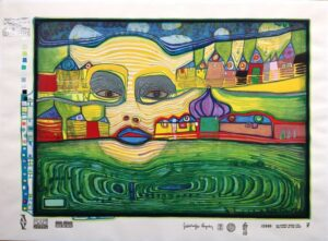 Friedensreich Hundertwasser - Irinaland über dem Balkan