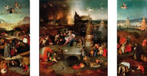 Antonius-drieluik / Temptations of St. Anthony (ca. 1501 of later) - Jeroen Bosch