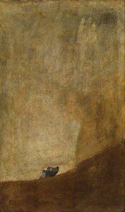 De hond / Perro semihundido (1820-1823) - Francisco Goya