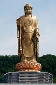 Grote Boeddha van Lushan, China – 153 meter