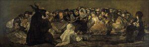 Heksen sabbat (de grote bok) / El aquelarre (1823) - Francisco Goya