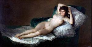 La maja desnuda / De naakte maja (ci. 1797–1800) - Francisco Goya