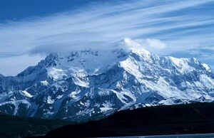 Mount Saint Elias gezien vanuit Alaska