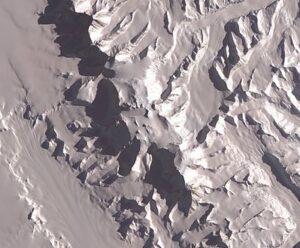 NASA satellietfoto van het Vinsonmassief