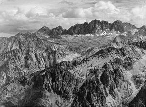 North Palisade vanaf Windy Point (Ansel Adams, 1936)