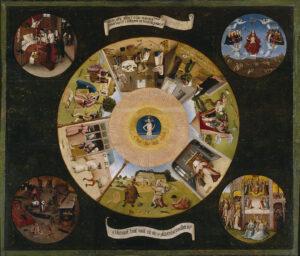 Zeven Hoofdzonden / Table of the Seven Deadly Sins (1500-1525) - Jeroen Bosch