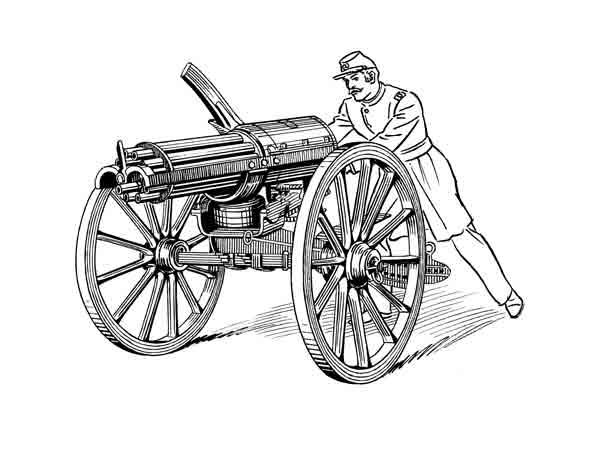 Gatling-gun: Belangrijkste uitvindingen uit de 19e eeuw