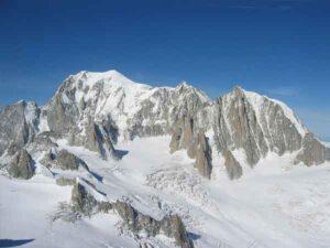 Hoogste bergen in Italië:  Monte Bianco