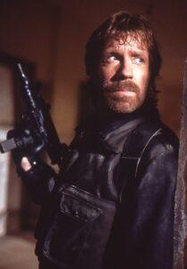 Chuck Norris in de film The Delta Force (1986)