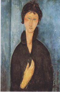 Donna dagli occhi azzurri / Vrouw met blauwe ogen (1918) - Amedeo Modigliani