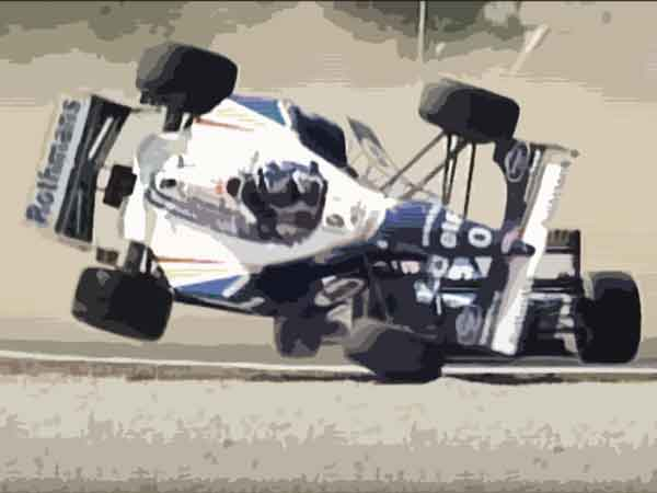 Formule 1 coureur met de meeste crashes - De top 10 met beelden