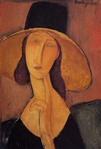 Jeanne Hébuterne au grand chapeau / Jeanne Hébuterne met grote hoed - Seated (1918) - Amedeo Modigliani