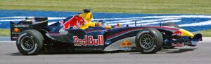 Klien in de Red Bull tijdens Grand Prix in de Verenigde Staten in 2005