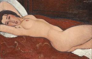 Liggend naakt / Nudo disteso (1917) - Amedeo Modigliani