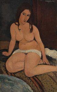 Nudo seduto / Ziitend naakt(1917) - Amedeo Modigliani