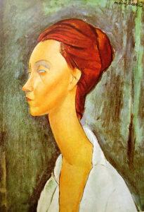 Portrait de Lunia Czechowska / Portret van Lunia Czechowska (1919) - Amedeo Modigliani