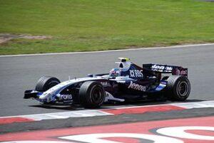 Wurz in zijn Williams FW29 tijdens de Grand Prix van Groot-Brittannië 2007