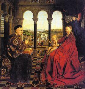 De Maagd van kanselier Rolin (1435) - Jan van Eyck