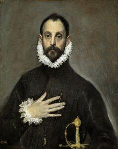 El caballero de la mano en el pecho / De heer met zijn hand aan zijn borst (c. 1580) - El Greco