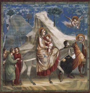 Fuga in Egitto / Vlucht naar Egypte (c.1304-1306) - Giotto di Bondone