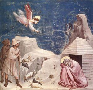 Il sogno di Gioacchino / Joachim's droom (1313) - Giotto di Bondone